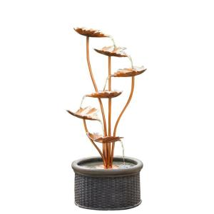 Jeco Metal Leaves Water Fountain by Jeco