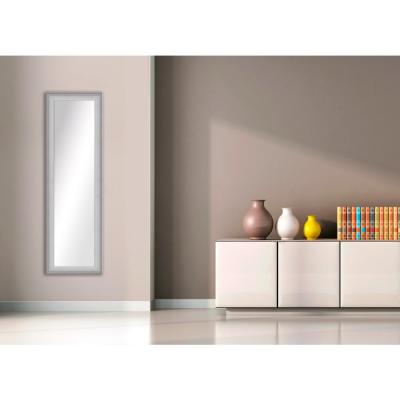52.5 in. x 16.5 in. Stainless Silver Framed Mirror