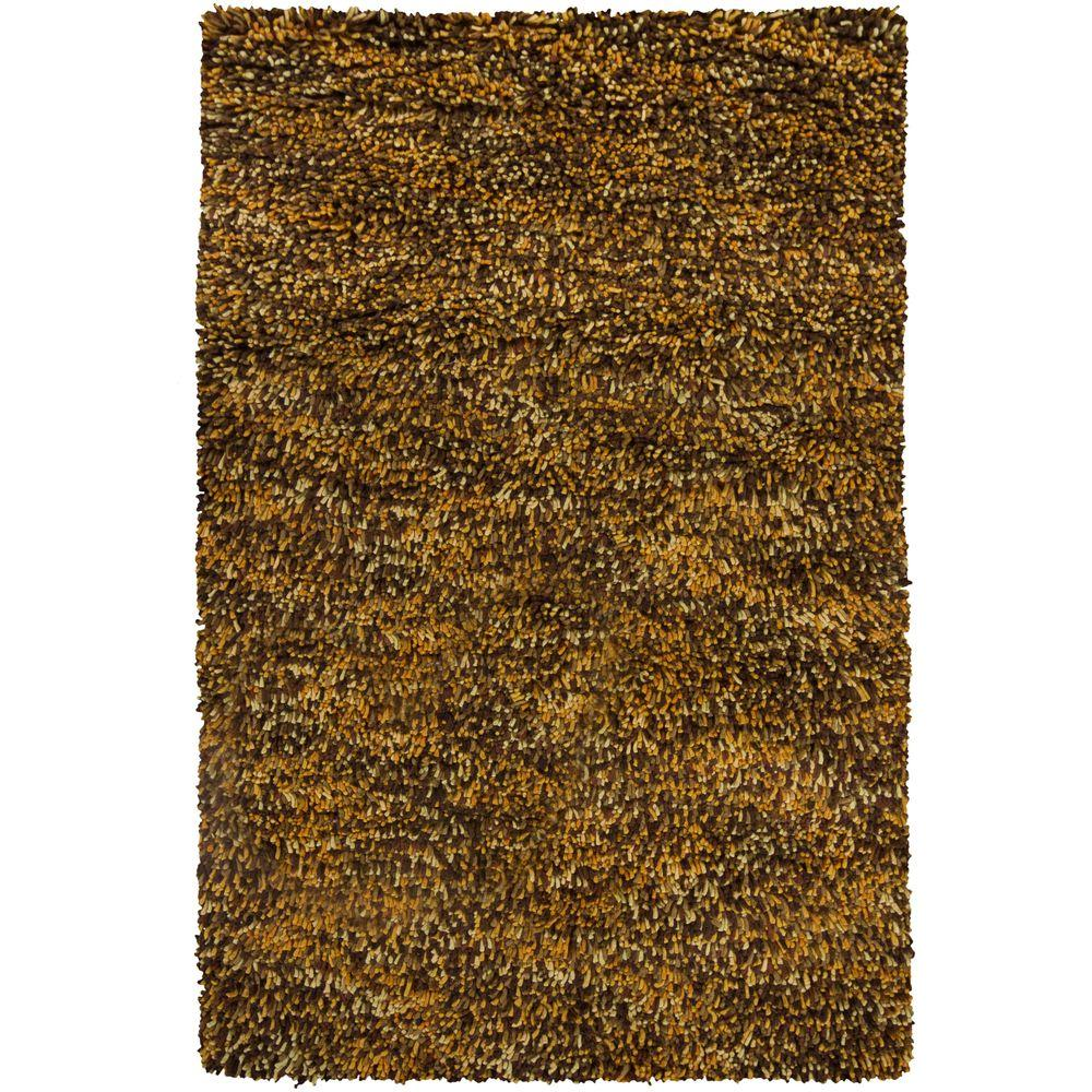 Chandra Porta Brown Yellow Cream 5 Ft X 8 Indoor Area