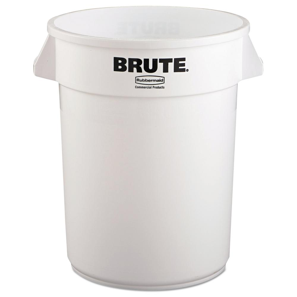 White Round Vented Trash Can
