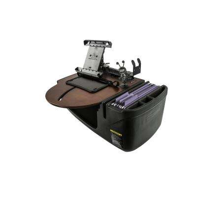 Roadmaster Car Desk with Phone Mount, Tablet Mount, and Printer Stand Mahogany