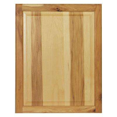0.75x27.75x22 in. Hampton Base Cabinet Decorative End Panel in Natural Hickory