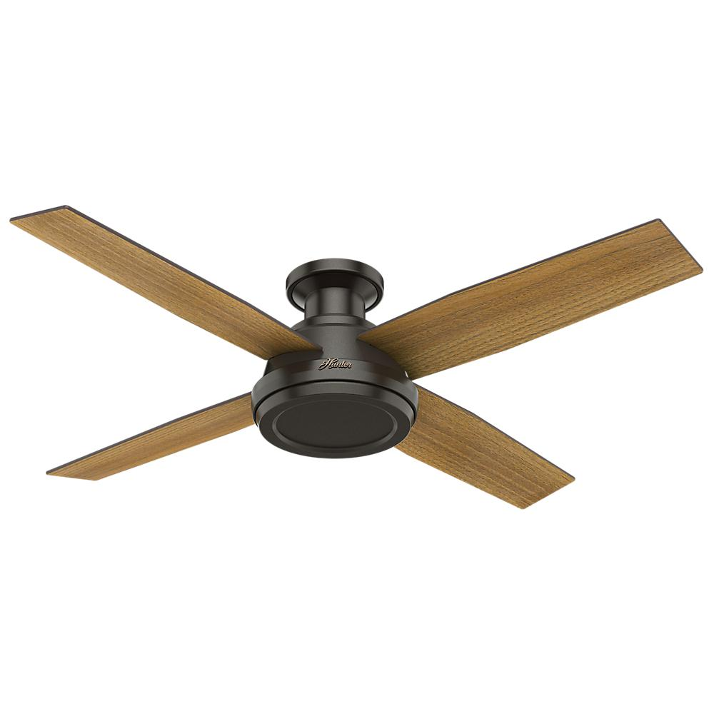 Low Profile No Light Indoor Noble Bronze Ceiling  sc 1 st  The Home Depot & Hunter - Indoor - Ceiling Fans - Lighting - The Home Depot azcodes.com