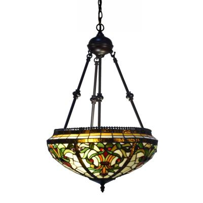 Maui 24 in. 2-Light Antique Bronze Pendant with Hand Rolled Art Glass Shade