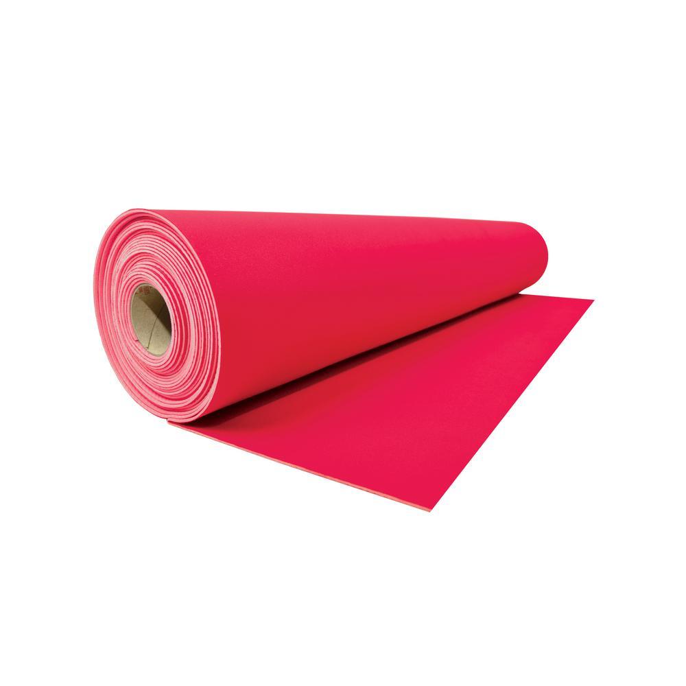 Reusable Red Neoprene 27 in. x 20 ft. Roll Runner