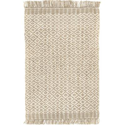 Lorelei Pip Trellis Jute Off-White 5 ft. x 8 ft. Area Rug