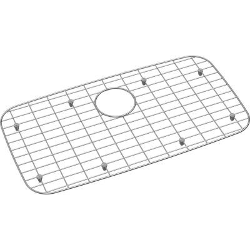 Dayton 26.125 in. x 13.9375 in. Bottom Grid for Kitchen Sink in Stainless Steel