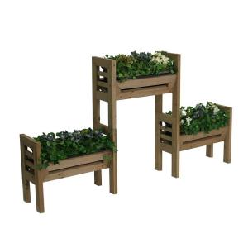 Algreen Stack N Garden 18 inch Plastic Planter Set by Algreen