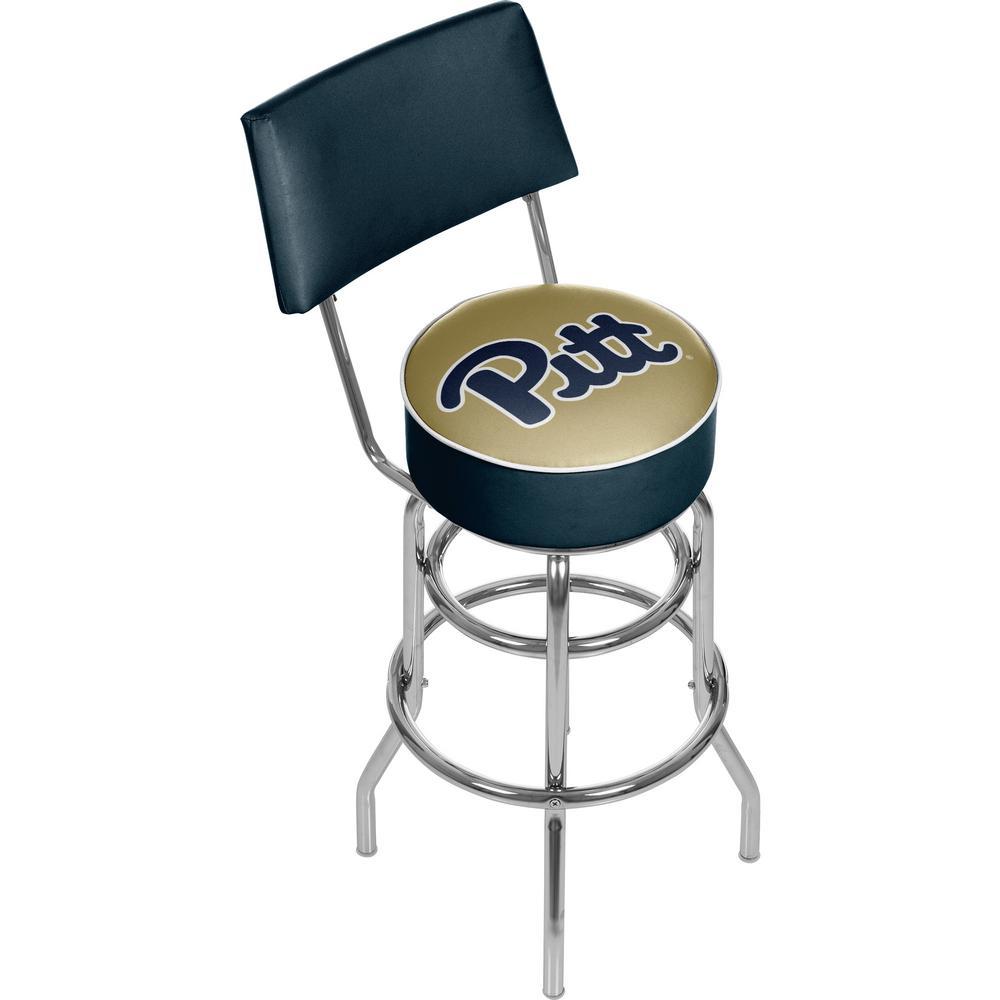 University of Pittsburgh 30 in. Chrome Padded Swivel Bar Stool