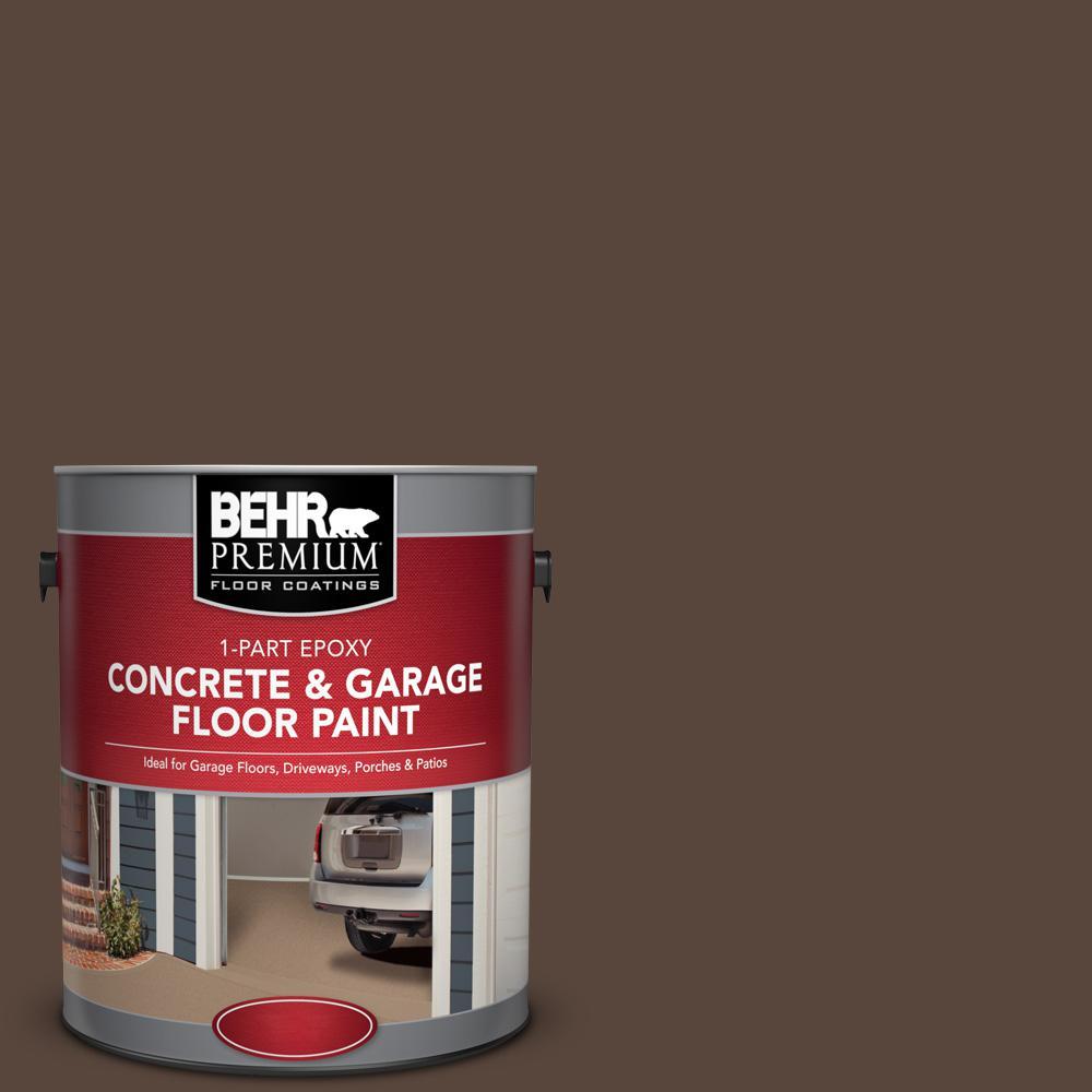 1 gal. #SC-105 Padre Brown 1-Part Epoxy Satin Interior/Exterior Concrete and Garage Floor Paint