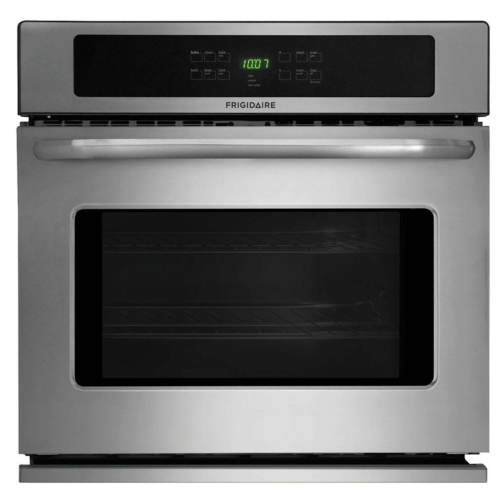 Frigidaire 27 in. Single Electric Wall Oven Self-Cleaning in Stainless Steel