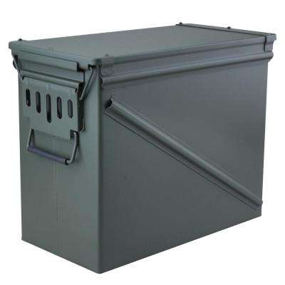 18.5 in. x 9.5 in. Steel Ammo Storage Box in OD Green with Water Resistant and Airtight Gasket Seal