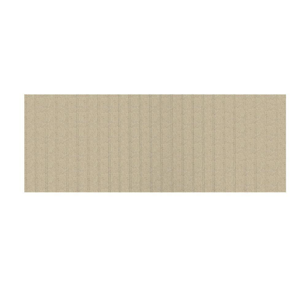Swanstone 3 ft. x 8 ft. Beadboard One Piece Easy Up Adhesive Wainscot in Prairie-DISCONTINUED