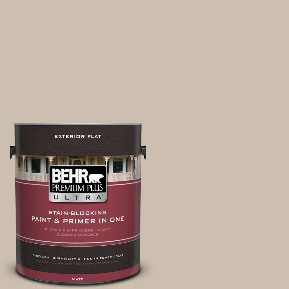 Home Decorators Collection 1-gal. #HDC-AC-10 Bungalow Beige Flat Exterior Paint