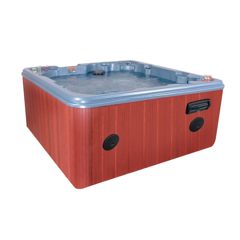 QCA Spas Crete 8-person 40-Jet Spa with 4.2 HP BT Pump and WOW Sound Stereo in Blue Denim-DISCONTINUED