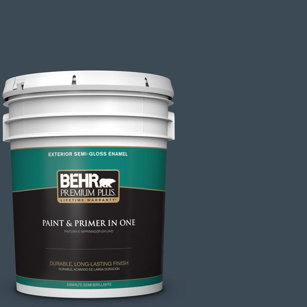 5-gal. #BXC-26 New Navy Blue Semi-Gloss Enamel Exterior Paint