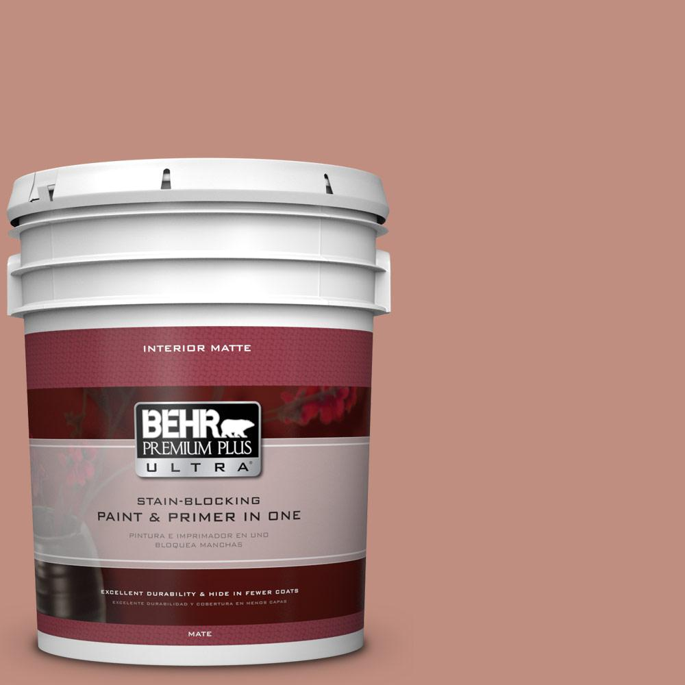 Behr Premium Plus Ultra 5 Gal 200f 4 Foxen Matte Interior Paint And Primer In One 175405 The