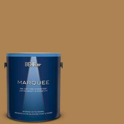 1 gal. #S300-6 Harvest Time Satin Enamel Interior Paint and Primer in One