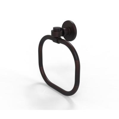 Continental Collection Towel Ring with Groovy Accents in Venetian Bronze