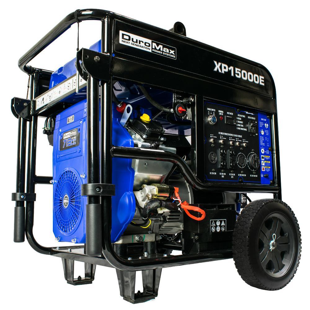 12000-Watt Gasoline Powered Portable Generator with Electric Start V-Twin Engine