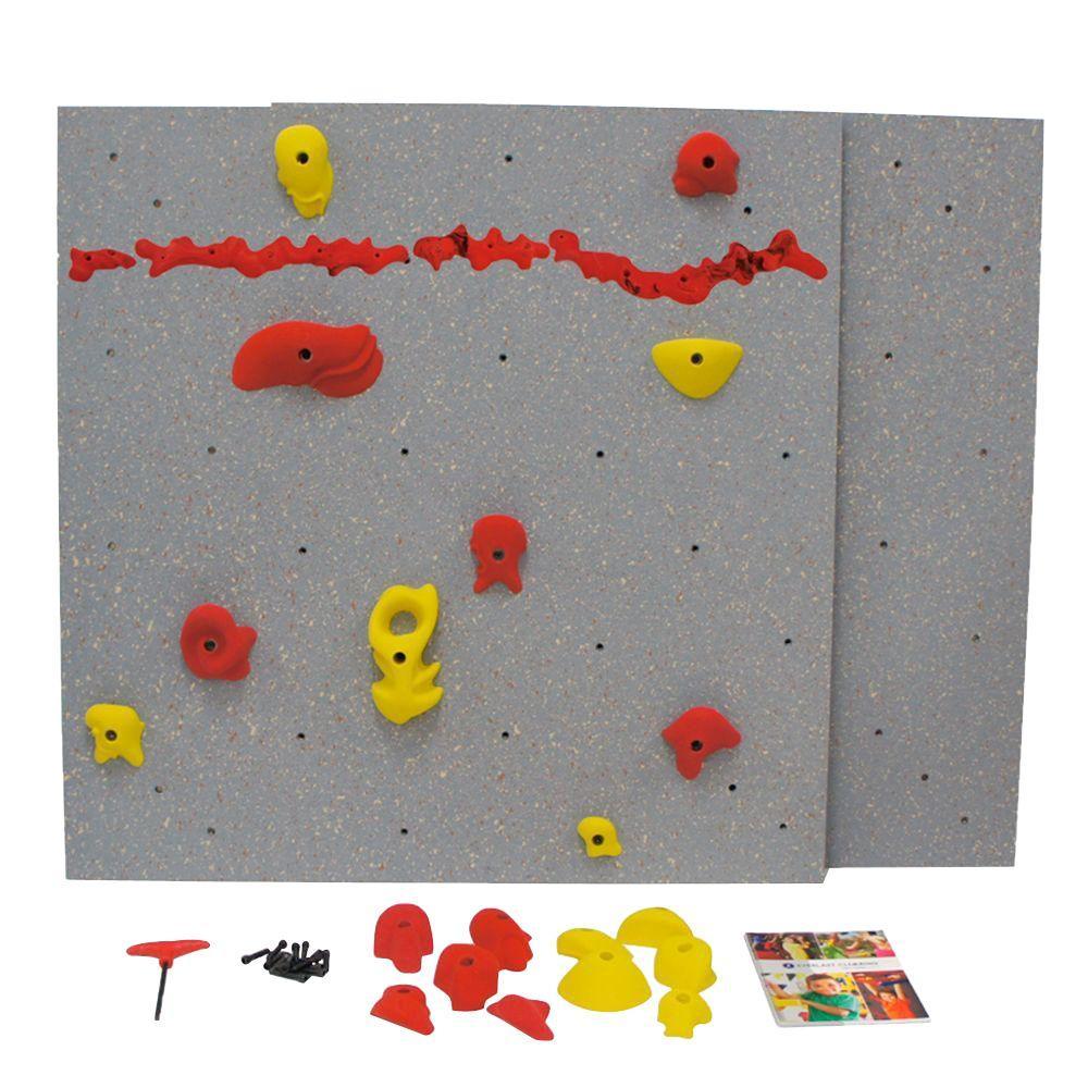 DIY Indoor Climbing Wall with Standard Panel