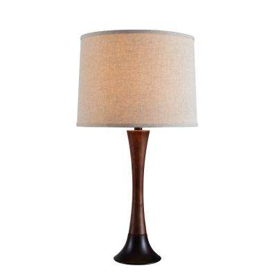 Cecelia 28 in. Bronze Table Lamp with cream shade