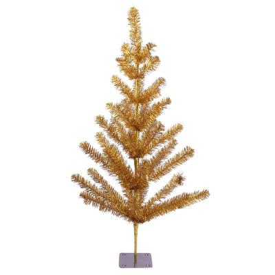 3 ft. Unlit Gold Tinsel Pine Artificial Christmas Twig Tree