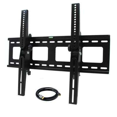 32 in. x 55 in. Tilt Television Wall Mount with HDMI Cable in Black