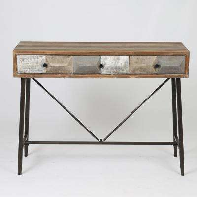 Deco Natural 3-Drawer Console Table