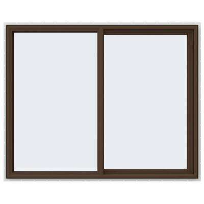 59.5 in. x 47.5 in. V-4500 Series Right-Hand Sliding Vinyl Window - Brown