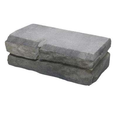 Natural Impressions 4 in. x 12 in. x 5.75 in. River Blend Concrete Quarry Retaining Wall Block