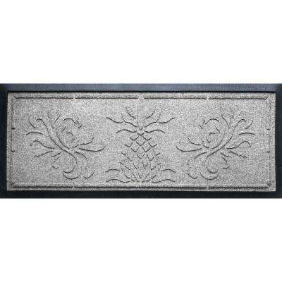 Medium Gray 15 in. x 36 in. x 0.5 in. Pineapple Boot Tray