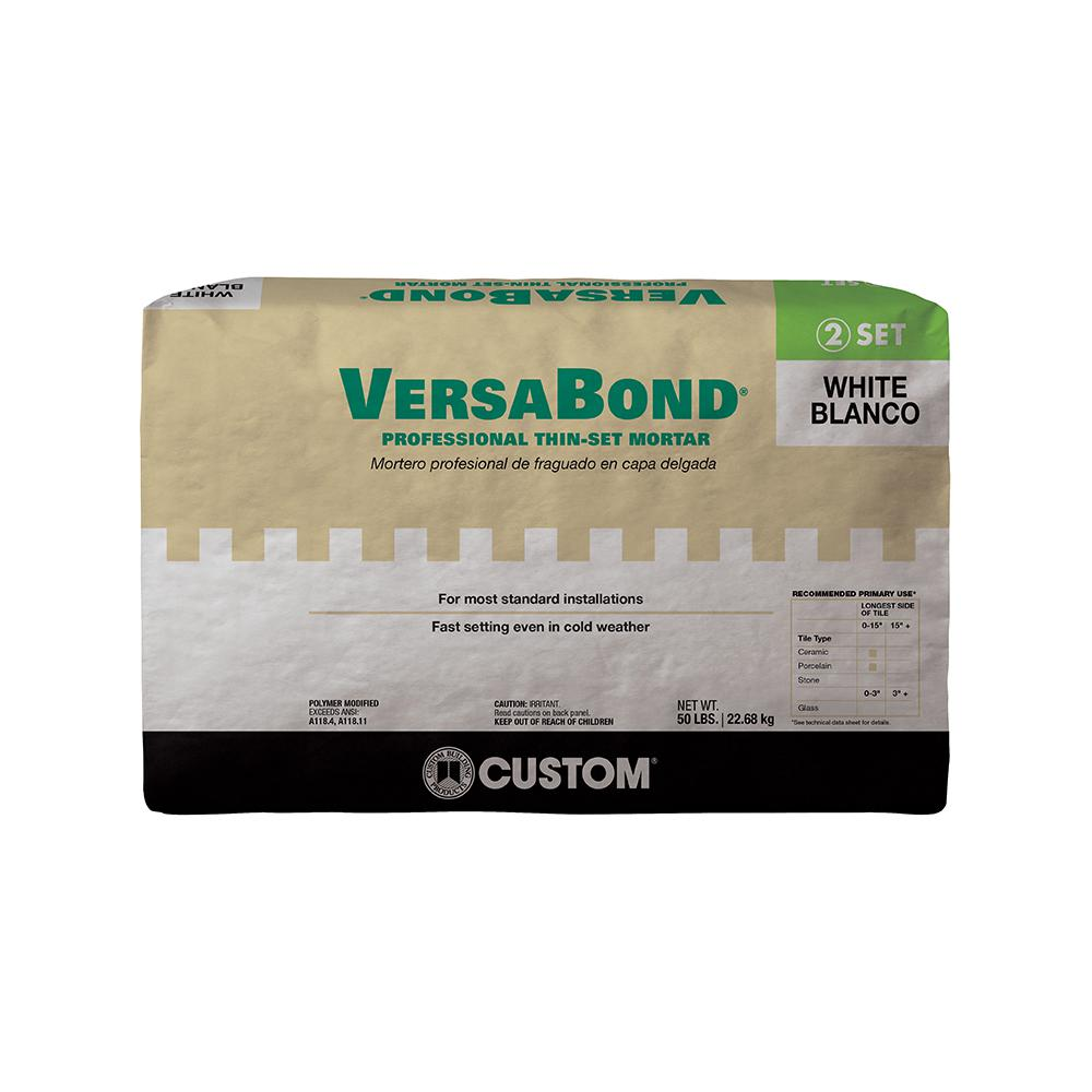 Custom Building Products VersaBond White Lb Fortified Thinset - Best thinset for large porcelain tile