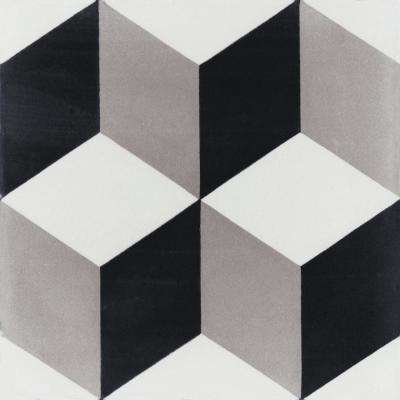 Cubes A Sencillo 7-7/8 in. x 7-7/8 in. Cement Handmade Floor and Wall Tile