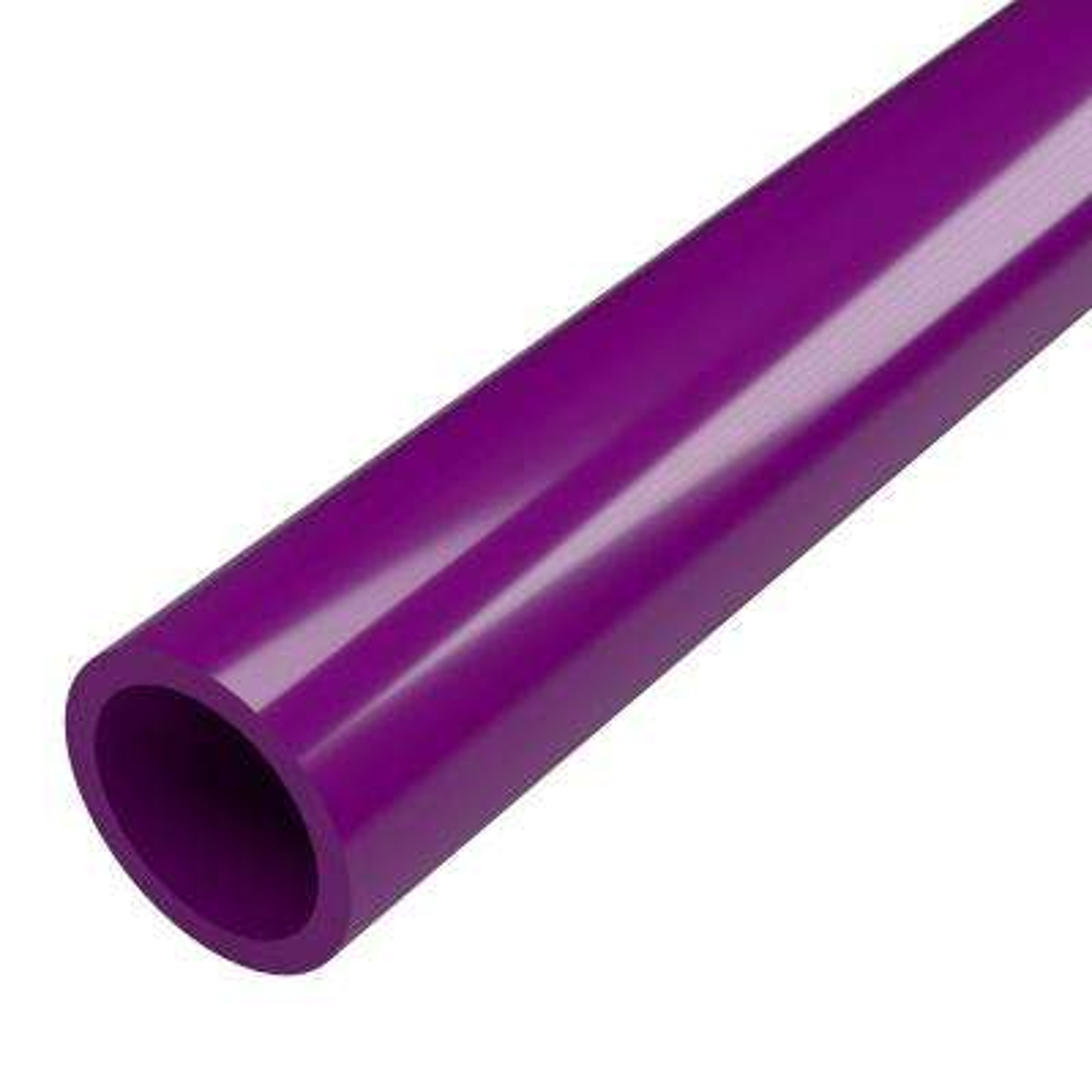 1-1/4 in. x 5 ft. Furniture Grade Sch. 40 PVC Pipe in Purple