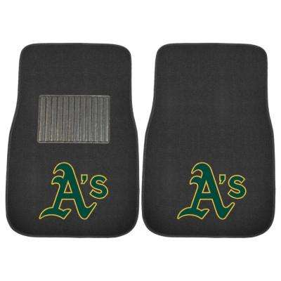 MLB - Oakland Athletics 17 in. x 25.5 in. 2-Piece Set of Embroidered Car Mat