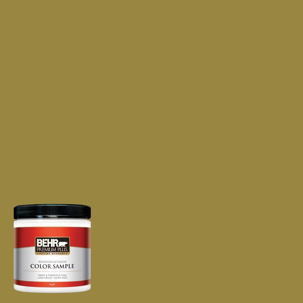 8 oz. #380D-7 Wild Grass Interior/Exterior Paint Sample