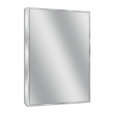 24 in. W x 30 in. H Spectrum Metal Framed Wall Mirror in Brush Nickel