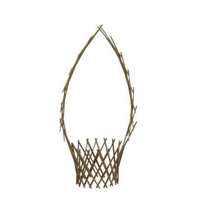 Peeled Willow 48 in. H x 12 in. W Basket Trellis