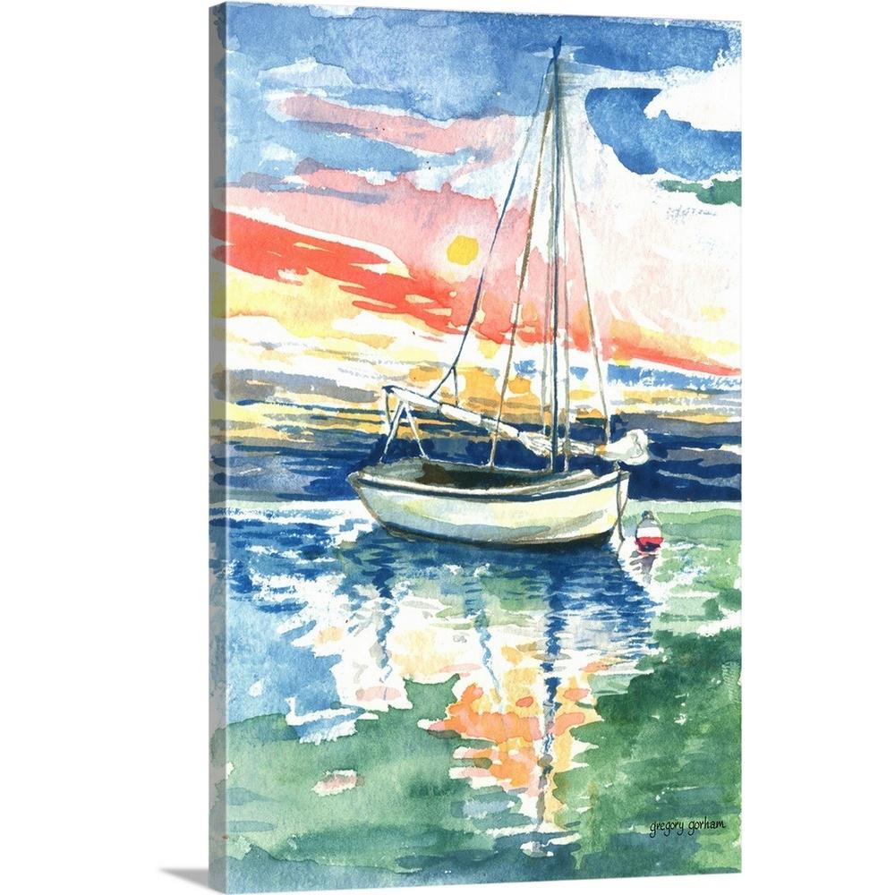 ''Edge of the Sea'' by Gregory Gorham Canvas Wall Art