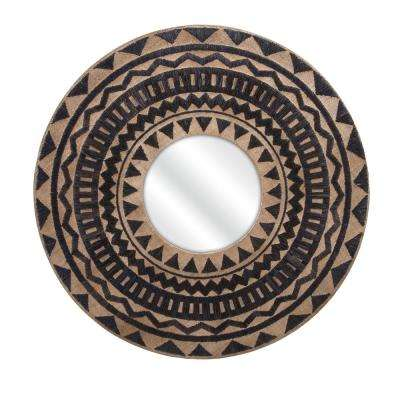 Embroidered Geometric Wall Mirror