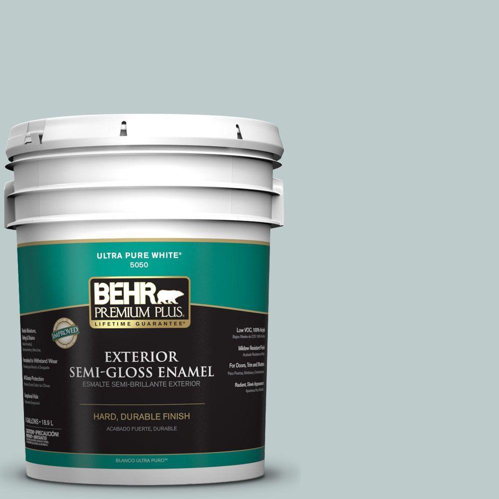 BEHR Premium Plus 5-gal. #N440-2 Urban Raincoat Semi-Gloss Enamel Exterior Paint