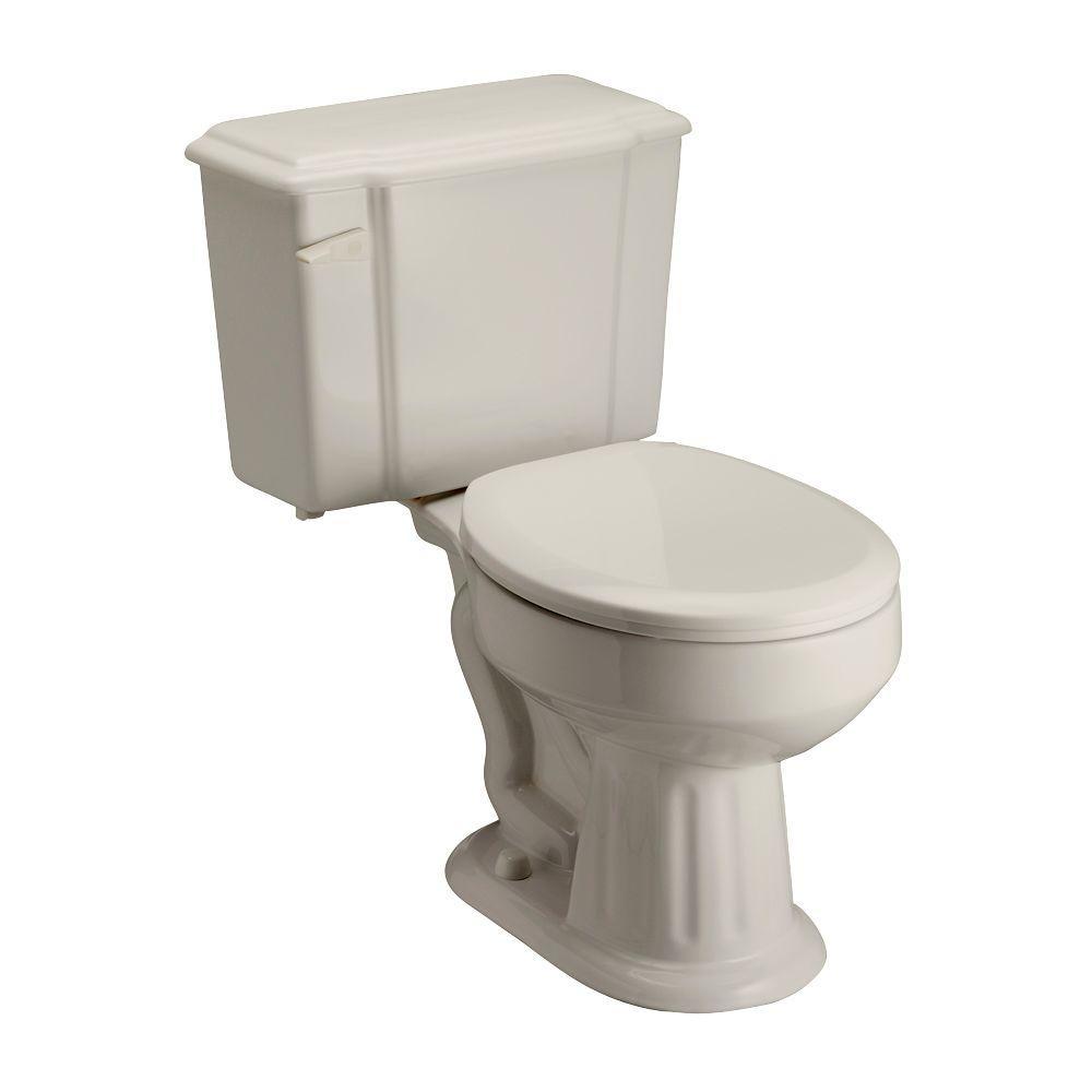 Pegasus Vicki 2-piece 1.6 GPF Round Toilet in Bisque
