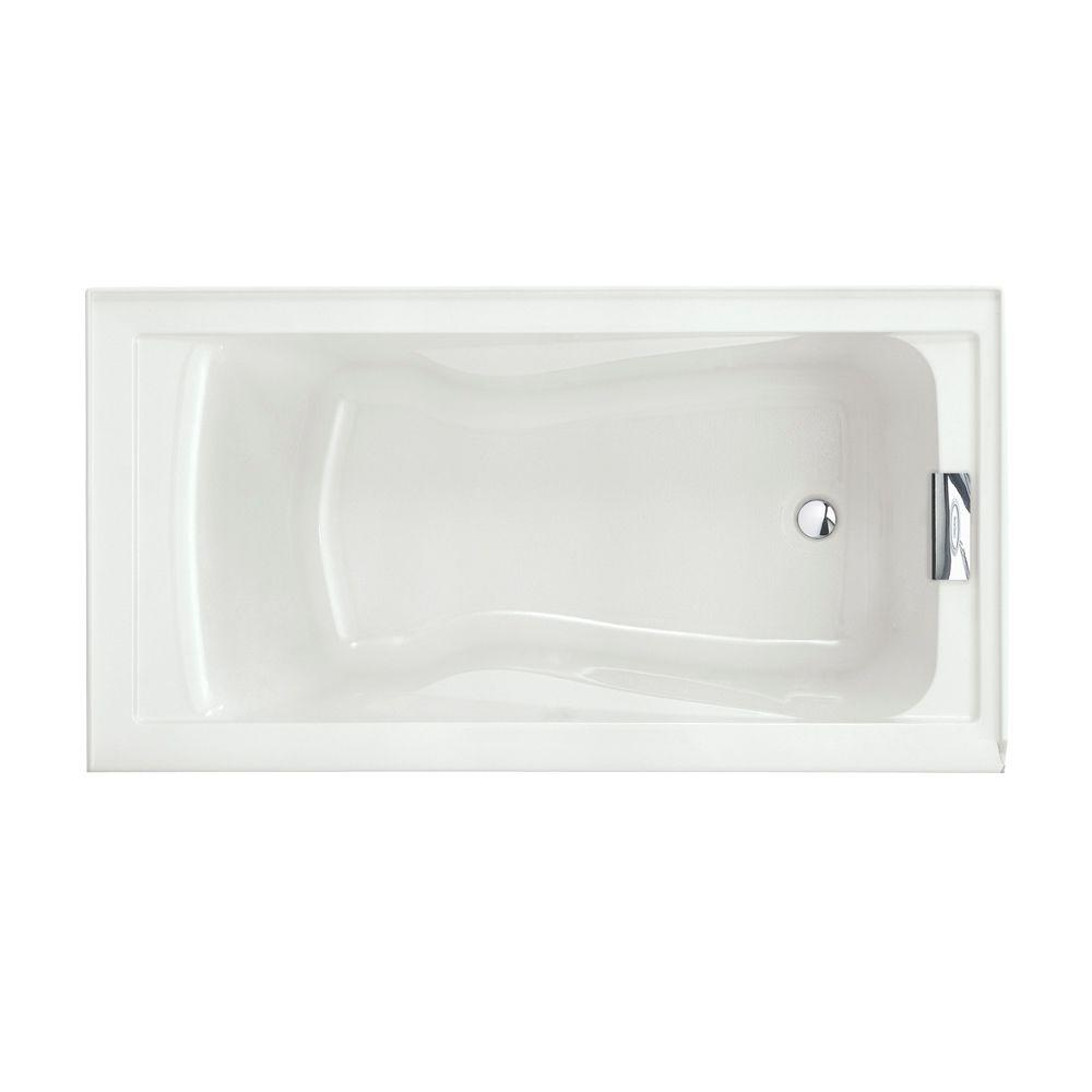 American Standard Evolution 5 Ft. Acrylic Reversible Drain Bathtub In White