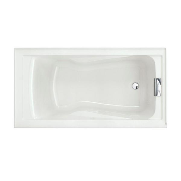 Evolution 60 in. x 32 in. Acrylic Reversible Drain Bathtub in White