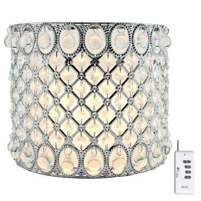 9.125 in. Silver Integrated LED Glam Girl Sconce