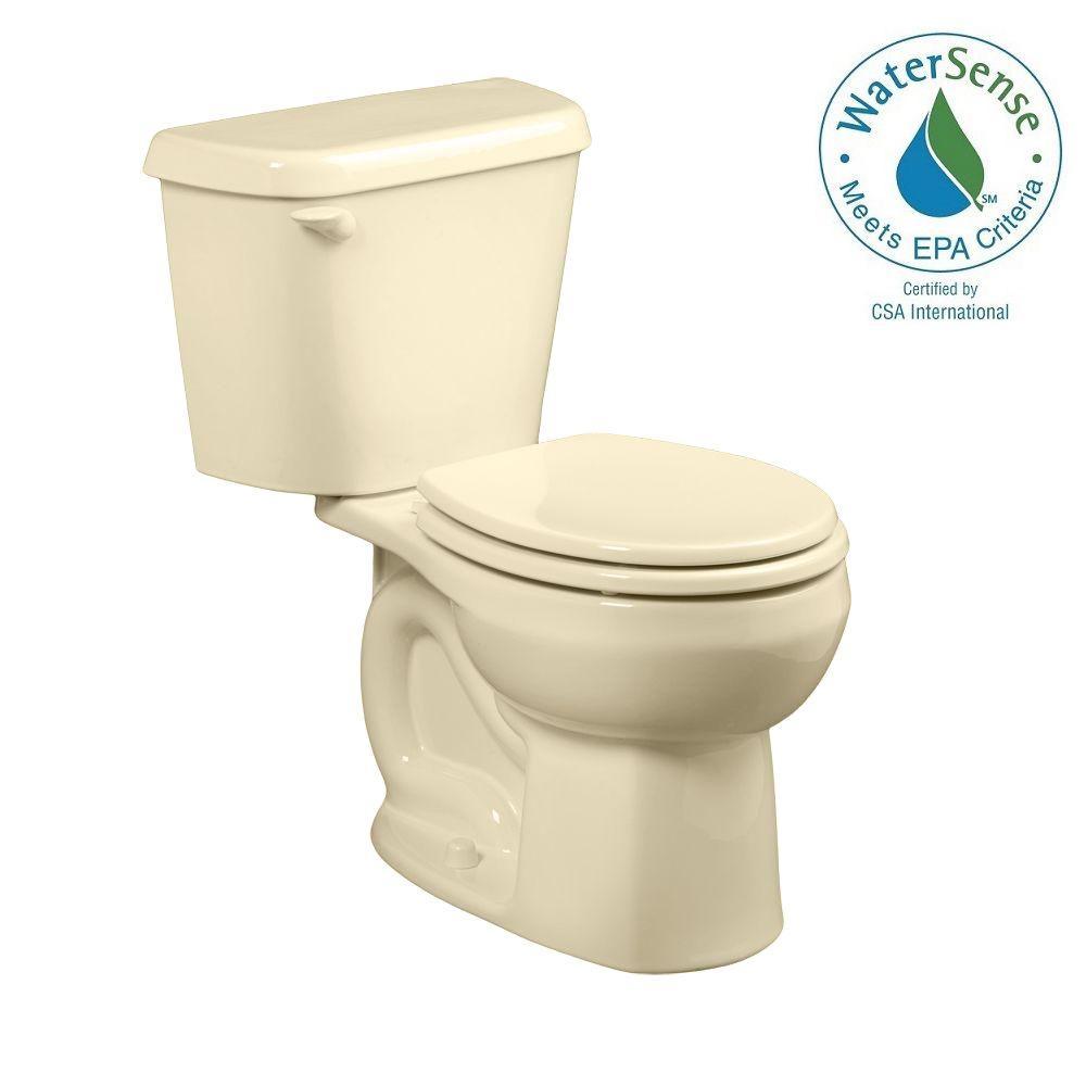 Colony 2-Piece 1.28 GPF Round Toilet in Bone