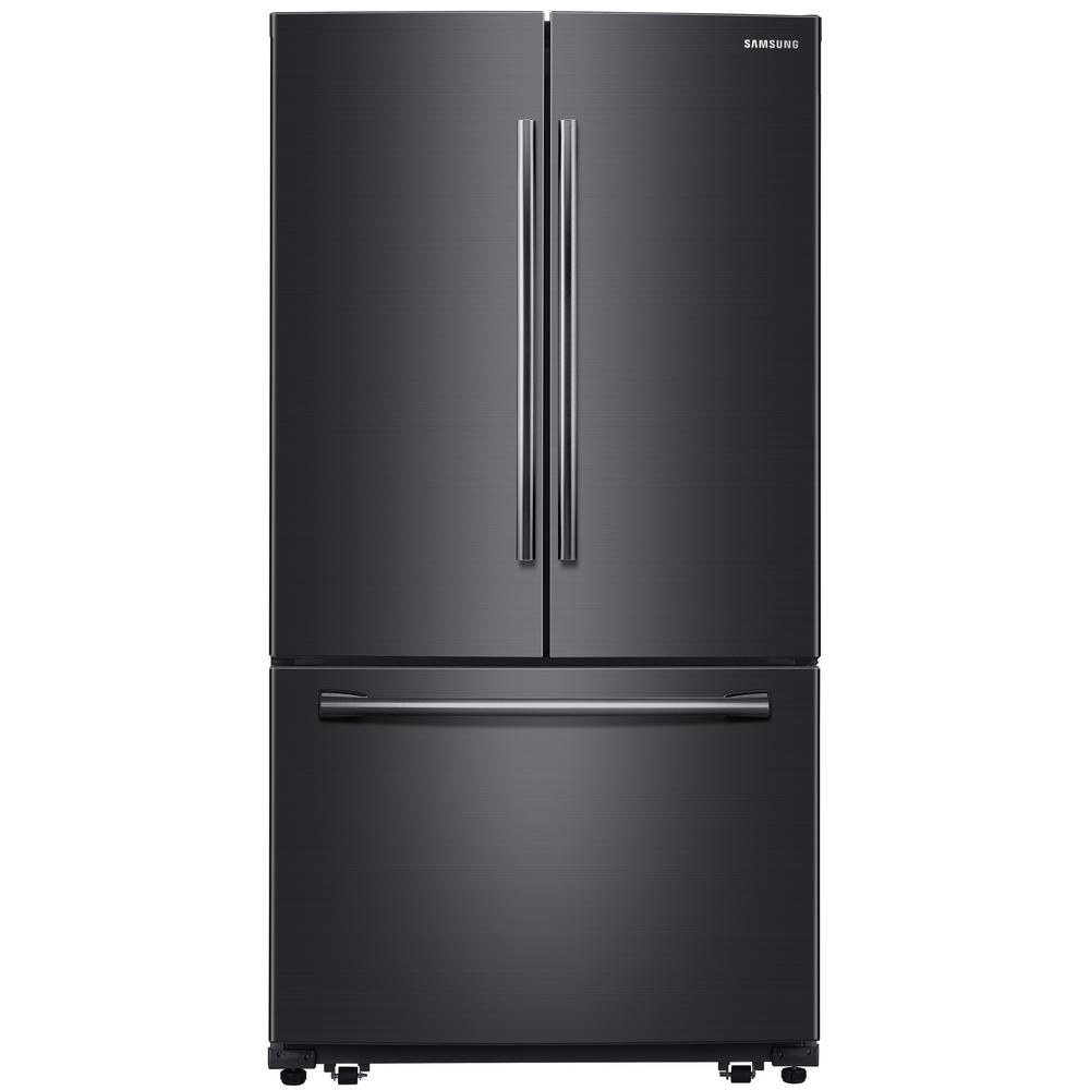 Samsung 25.5 cu. ft. French Door Refrigerator in Fingerprint Resistant Black Stainless