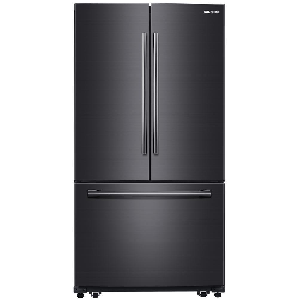 Samsung 25.5 cu. ft. French Door Refrigerator in Fingerprint Resistant Black Stainless, Fingerprint Resistant Black Stainless Steel was $1884.0 now $1298.0 (31.0% off)