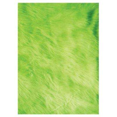 Flokati Lime Green 3 ft. x 5 ft. Area Rug